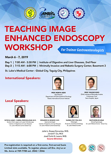 Teaching Image Enhanced Endoscopy Workshop