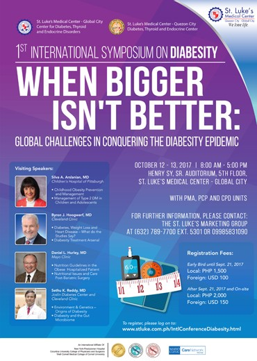1st International Symposium on Diabesity When Bigger Isn't Better: Global Challenges in Conquering The Diabesity Epidemic