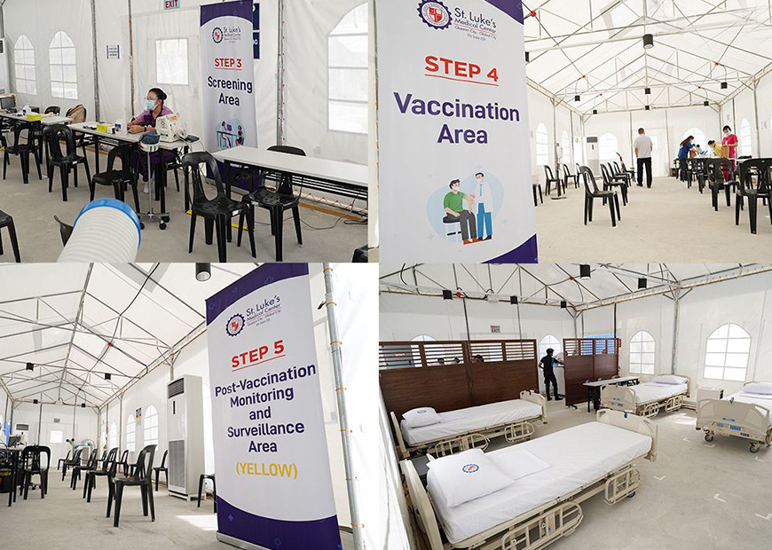 St. Luke's Vaccination Hub is a non-exclusive vaccination site that can be utilized by the private and non-private sectors for vaccine deployment.